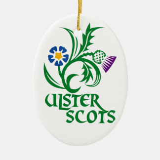 Ulster Scots (Scots-Irish) design. Ceramic Ornament