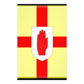 Ulster señala por medio de una bandera personalized stationery
