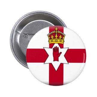 Ulster señala por medio de una bandera pin redondo de 2 pulgadas