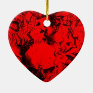 Última calidad en línea que sorprende hermosa adorno de cerámica en forma de corazón