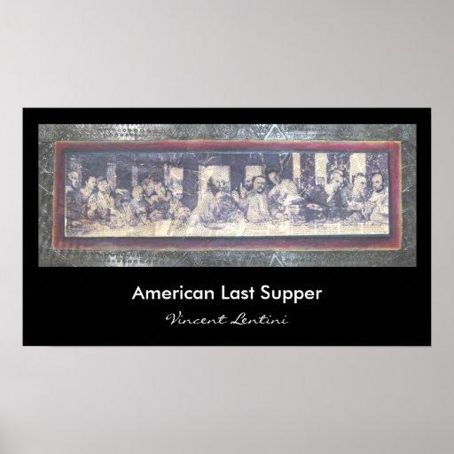Última cena americana impresiones