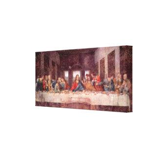 Última cena de Leonardo da Vinci, arte renacentist Lona Estirada Galerías