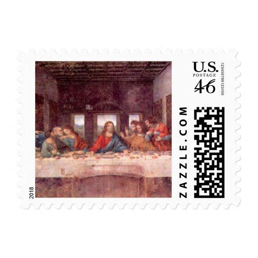 Última cena de Leonardo da Vinci, arte renacentist Sello