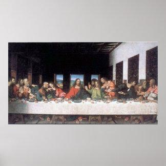 Última cena de Leonardo da Vinci Póster
