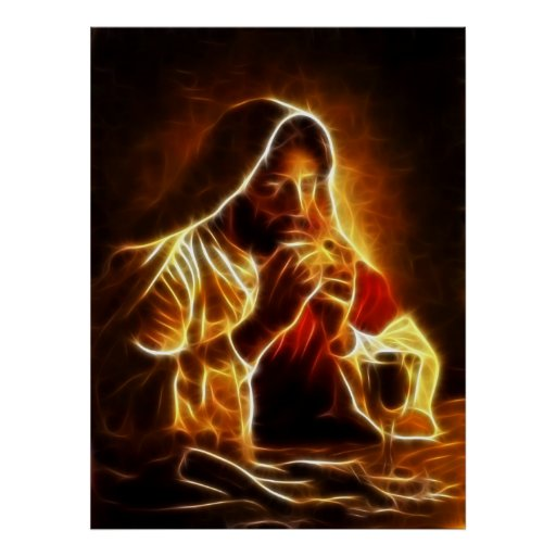 Última cena del Jesucristo Póster