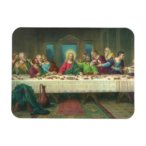 Última cena del vintage con Jesucristo y los apóst Imán De Vinilo