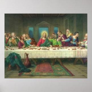Última cena del vintage con Jesucristo y los apóst Impresiones