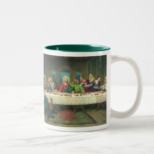 Última cena del vintage con Jesucristo y los apóst Tazas