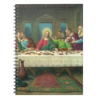 Última cena del vintage con Jesucristo y los Libro De Apuntes Con Espiral