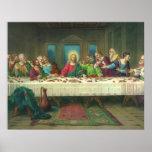 Última cena del vintage con Jesucristo y los Impresiones