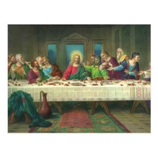 Última cena del vintage con Jesucristo y los Postales