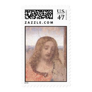 Última cena (detalle-Cristo) Sellos Postales