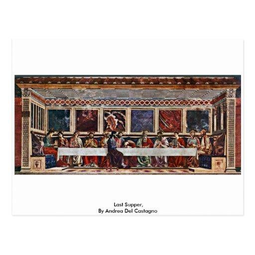 Última cena, por Andrea del Castagno Tarjetas Postales