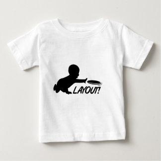 Última disposición del bebé del disco volador playera para bebé