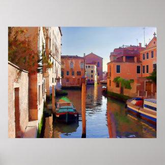 Última hora de la tarde en Venecia Posters