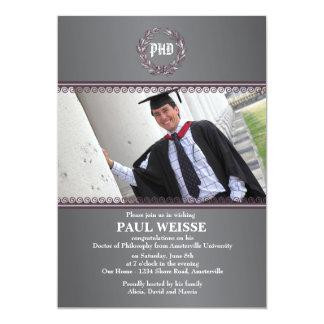 Última invitación de la graduación de la foto del