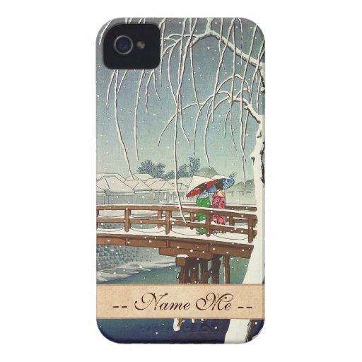 Última nieve a lo largo del arte del invierno de iPhone 4 coberturas