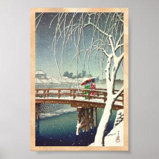 Última nieve a lo largo del arte del invierno de H Impresiones