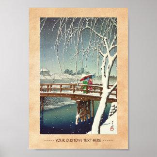 Última nieve a lo largo del arte del invierno de H Posters