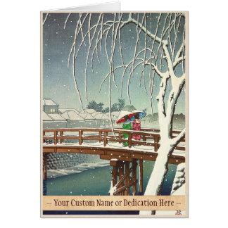Última nieve a lo largo del arte del invierno de H Tarjetas