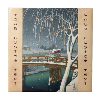 Última nieve a lo largo del arte del invierno del  azulejos