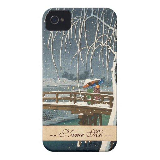 Última nieve a lo largo del arte del invierno del iPhone 4 cárcasas