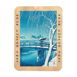Última nieve a lo largo del arte del invierno del  iman de vinilo