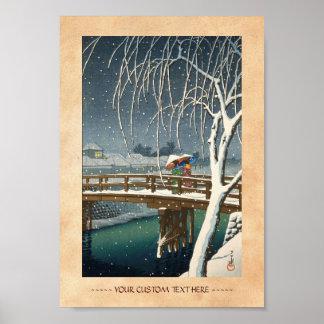 Última nieve a lo largo del arte del invierno del  impresiones