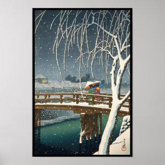 Última nieve a lo largo del arte del invierno del  poster