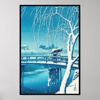 Última nieve a lo largo del arte del invierno del  posters