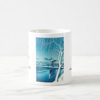 Última nieve a lo largo del arte del invierno del taza de café