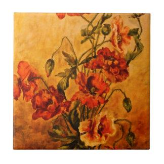 Última pintura al óleo viva 1890 del Victorian de  Azulejo Cuadrado Pequeño