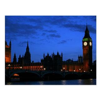 Última tarde, Westminster, Londres Tarjetas Postales