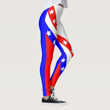 USA Themed Ultimate American Patriot USA Stars and Stripes Leggings