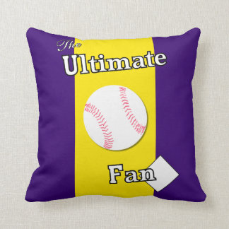 Ultimate Baseball Fan Amethyst Gold Sea Thieves Throw Pillow