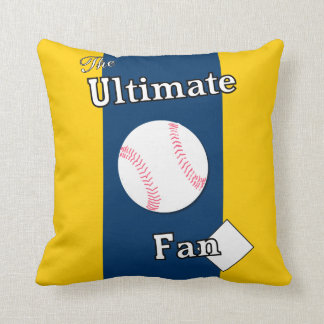 Ultimate Baseball Fan Appalachian Gold and Blue Throw Pillow