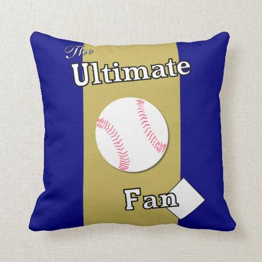 Ultimate Baseball Fan Deep Pacific Sunset Pillow