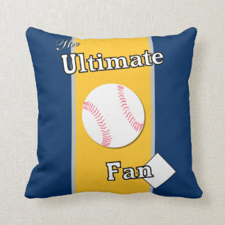 Ultimate Baseball Fan Enemies in the Heartland Throw Pillow