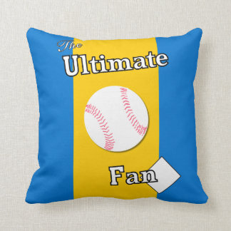 Ultimate Baseball Fan Gold Pond Throw Pillow