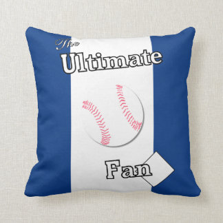 Ultimate Baseball Fan Holly Blue Throw Pillow