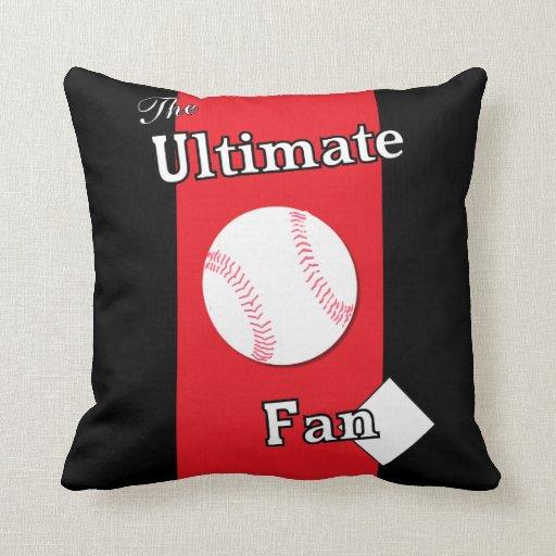 Ultimate Baseball Fan in Coal Blood Pillow