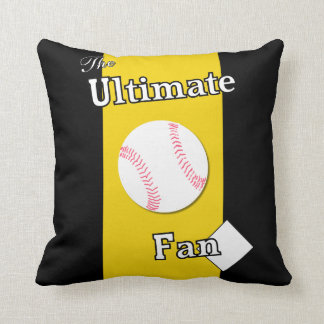 Ultimate Baseball Fan Iron River Throw Pillows