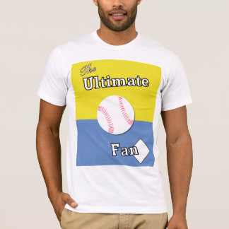 Ultimate Baseball Fan Lt. Blue and Gold T-Shirt