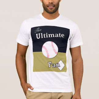 Ultimate Baseball Fan Navy and Gold T-Shirt