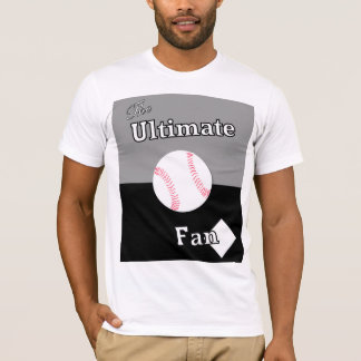Ultimate Baseball Fan Silver and Black T-Shirt