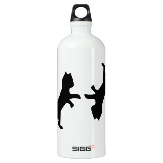 Ultimate Cat Fight - Meow Aluminum Water Bottle