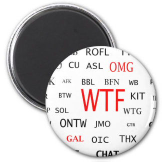 Ultimate Chat Lingo 2 Inch Round Magnet
