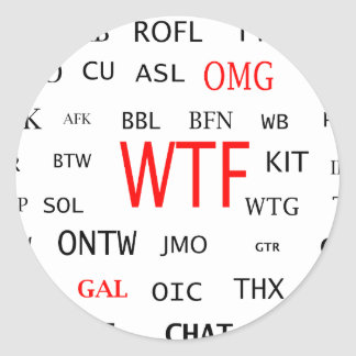 Ultimate Chat Lingo Classic Round Sticker