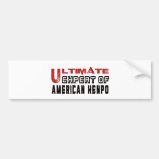 Ultimate Expert Of American Kenpo. Car Bumper Sticker