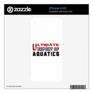 Ultimate Expert Of Aquatics. iPhone 4 Decal
